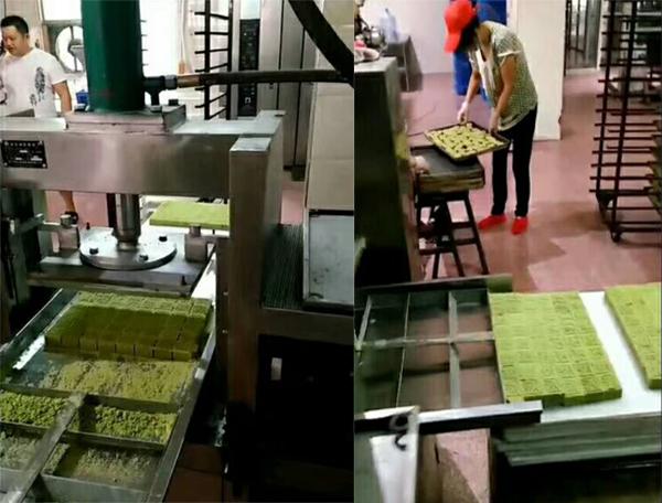 全自动绿豆糕机试机